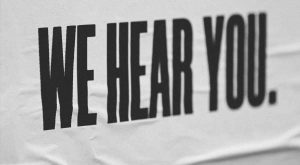 We Hear You Banner